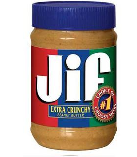 Beurre de cacahouète JIF crunchy