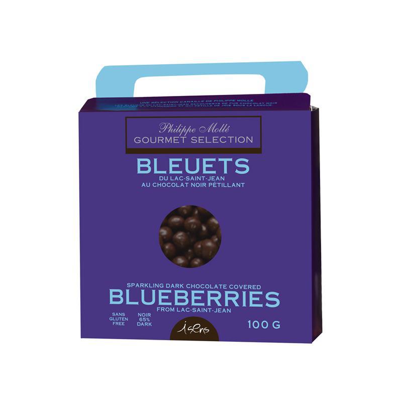 Bleuets au chocolat noir pétillant
