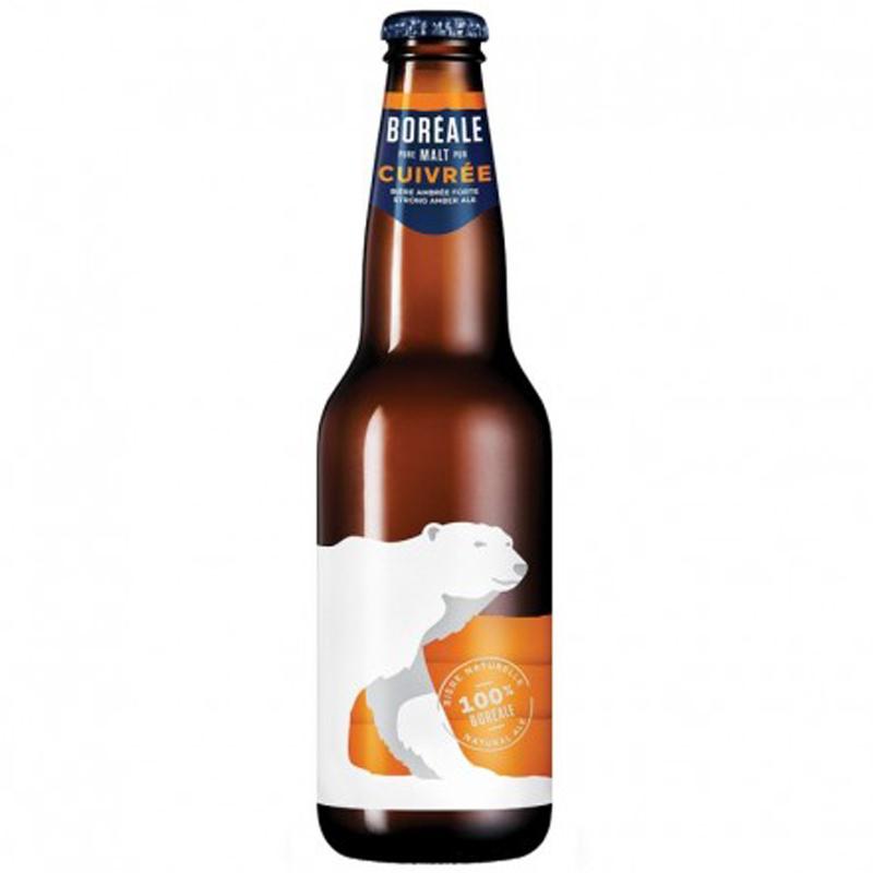 Bière Boréale cuivrée